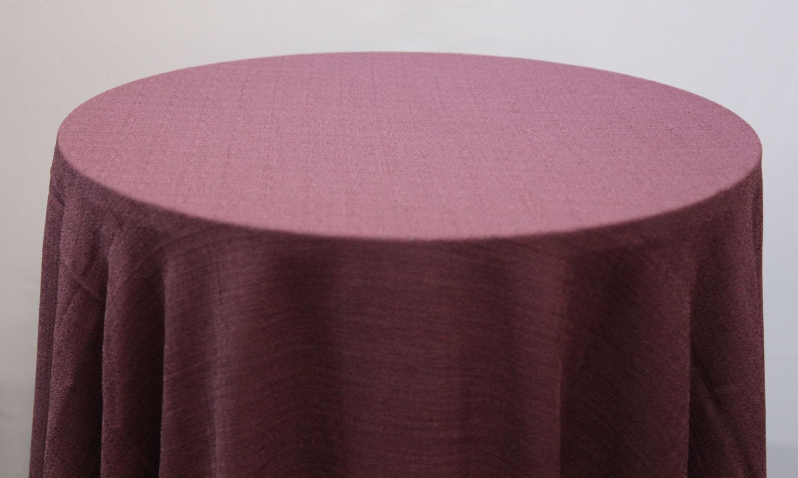 Plum Linen Tablecloth  - Chair Covers and Candelabra