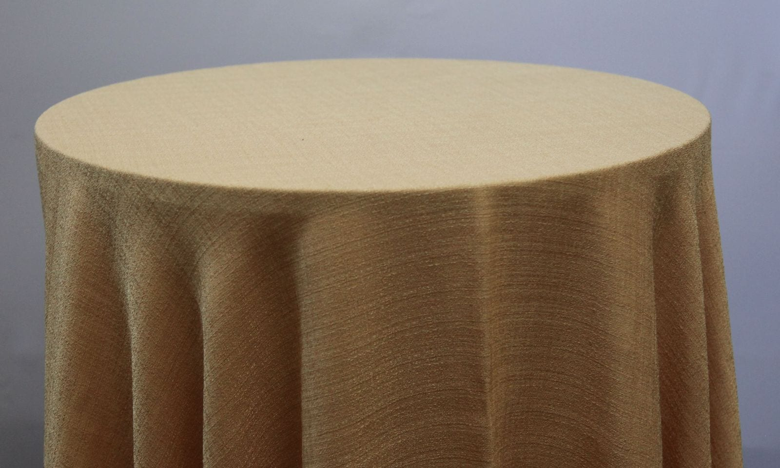 Gold Linen Tablecloth - Event Hire - Chair Covers and Candelabra