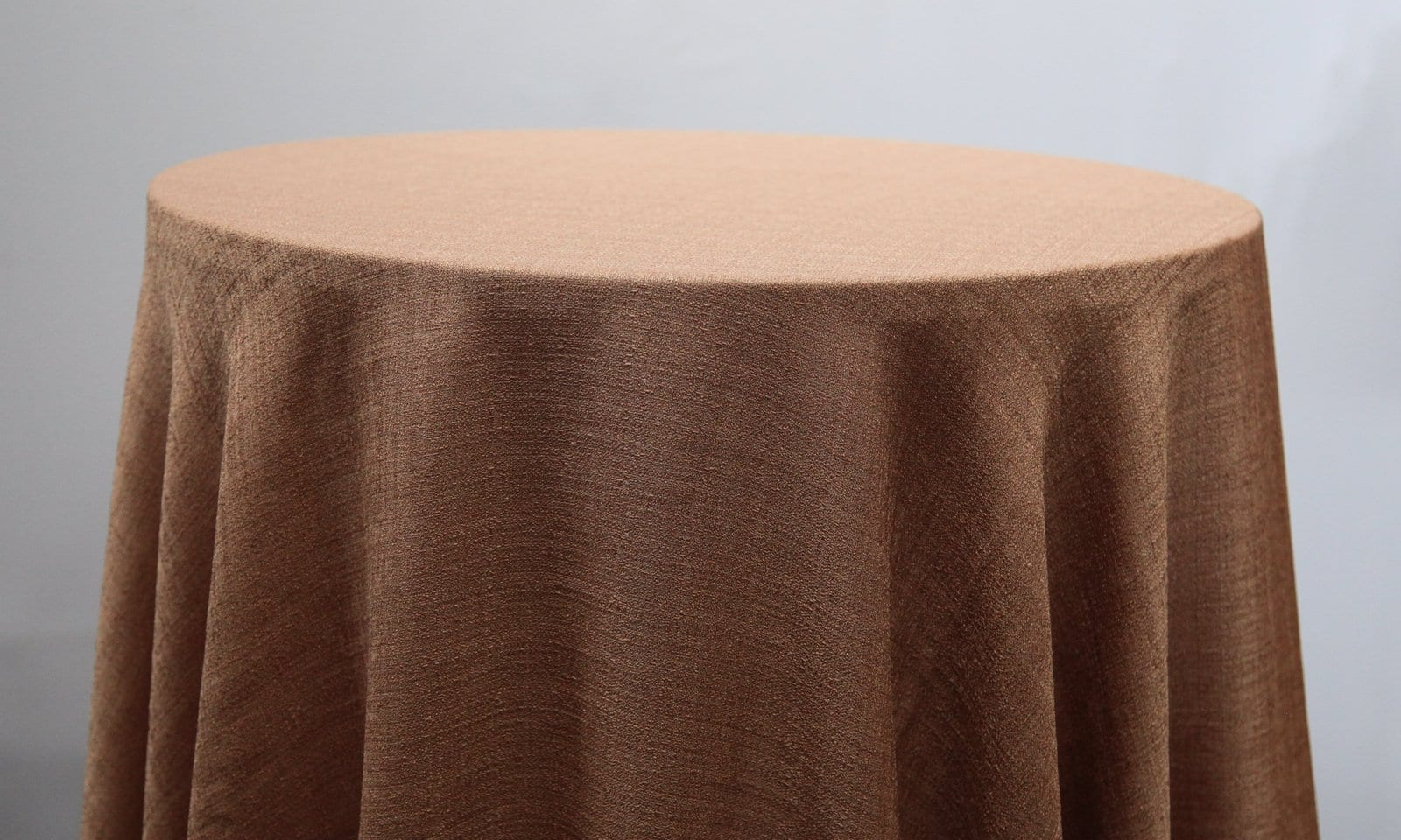 Cinnamon Linen Tablecloth - Event Hire - Chair Covers and Candelabra