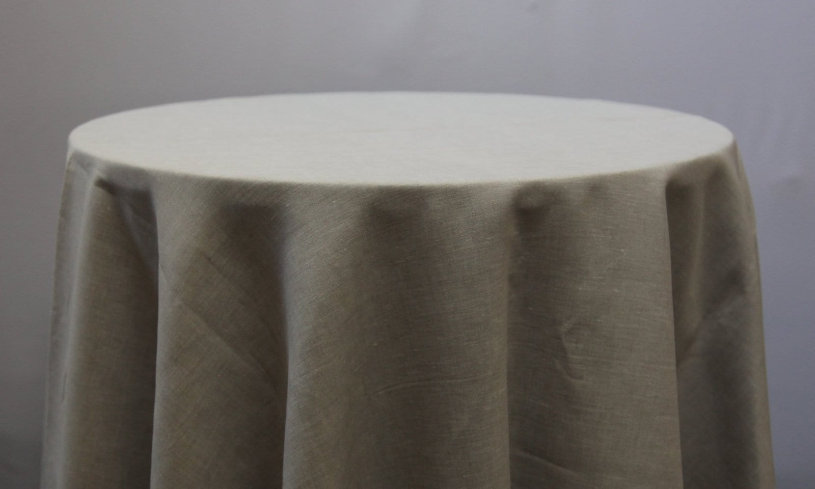 Oatmeal Linen Tablecloth - Event Hire - Chair Covers and Candelabra