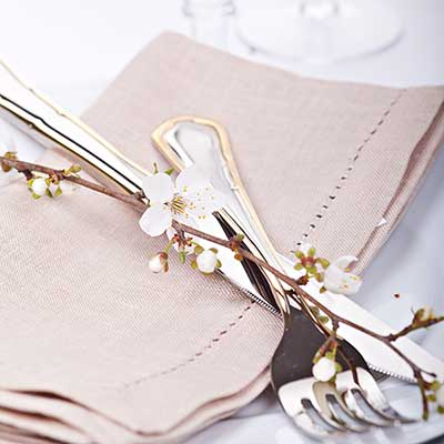 Dinner Napkins at Chair Covers Candelabra