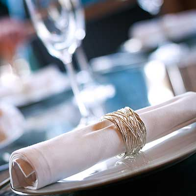 Napkin Rings at Chair Covers Candelabra