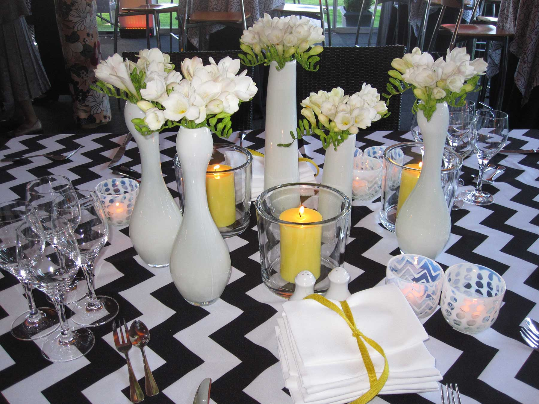 Tablecloth Overlays at Chair Covers Candelabra