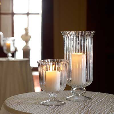 Storm Shades at Chair Covers Candelabra